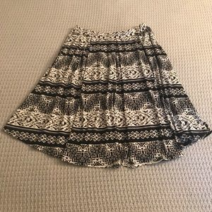 Black & White Tribal Print Lularoe Madison Skirt